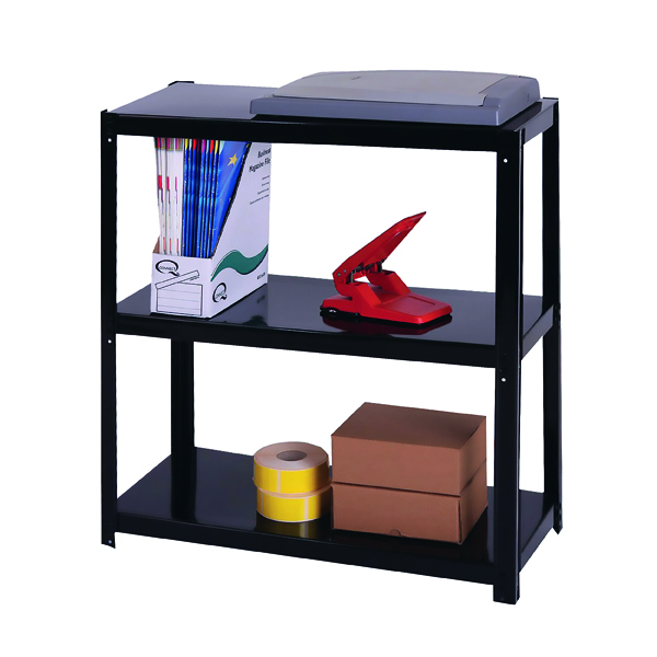 Zamba Light Duty Boltless 3-Shelf Unit Black ZZLS3BK078B07030