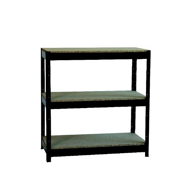 Zamba Heavy Duty Boltless 3-Shelf Unit Black ZZHT3BK094A09545