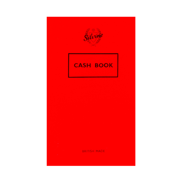 Silvine Plain Cash Book 72 Pages 159x95mm (Pack of 24) 042C-T