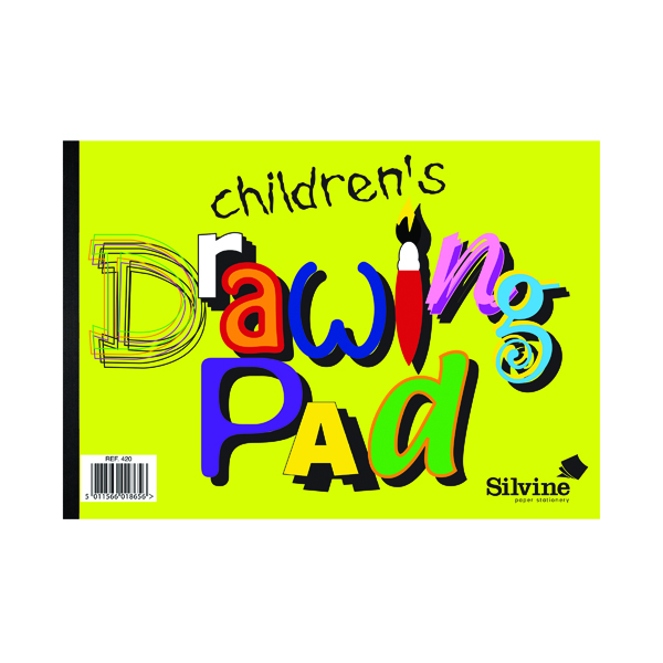 12 x Silvine Childrens A4 Drawing Pad (Features 20 A4 pages per pad) 420