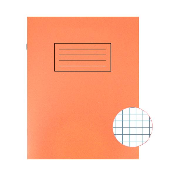 Silvine Exercise Book 5mm Squares 229x178mm Orange (Pack of 10) EX105