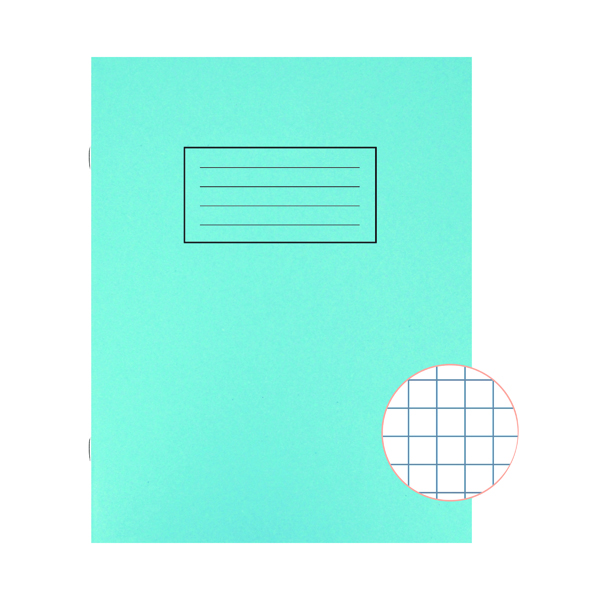 Silvine Exercise Book 7mm Squares 229x178mm Blue (Pack of 10) EX106