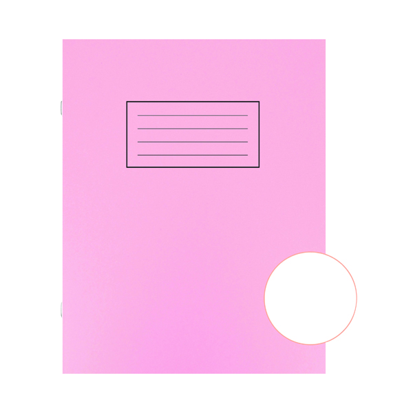 Silvine Exercise Book Plain 229x178mm Pink (Pack of 10) EX112