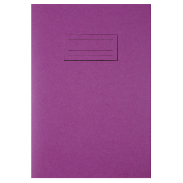 Silvine Tough Shell A4 Exercise Book Feint Ruled With Margin Purple (Pack of 25) EX140