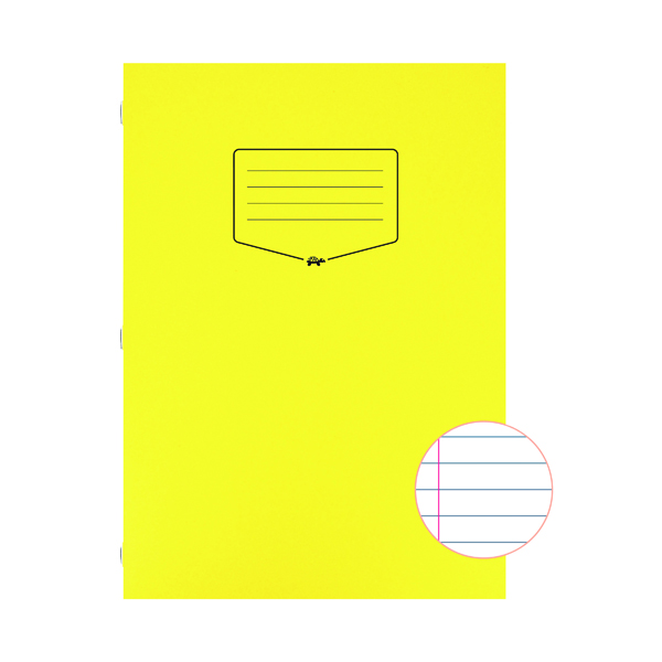 Silvine Tough Shell Exercise Book Ruled A4 Yellow (Pack of 25) EX141
