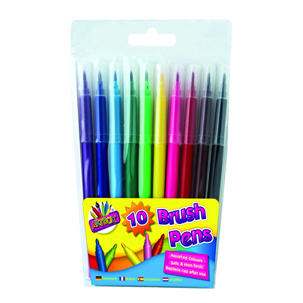 Artbox 10 Quality Brush Fibre Pens (Pack of 12) 1093