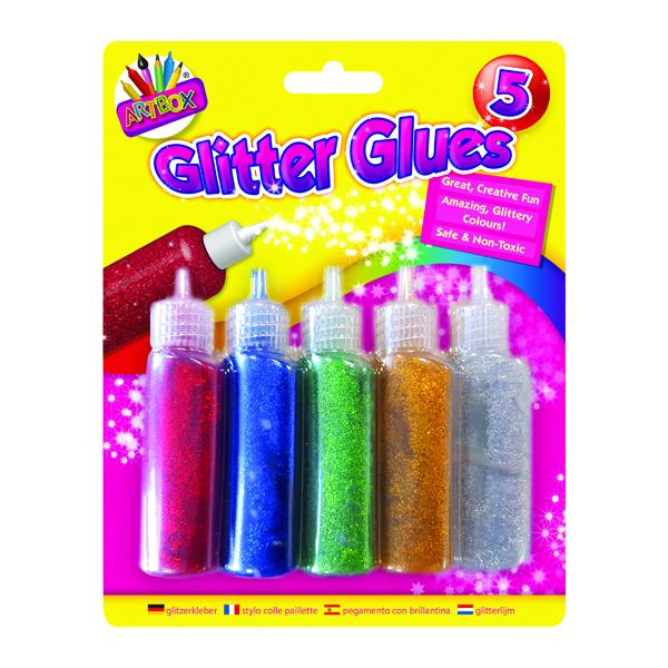 Artbox 5 Pack Glitter Glues (Pack of 12) 5031