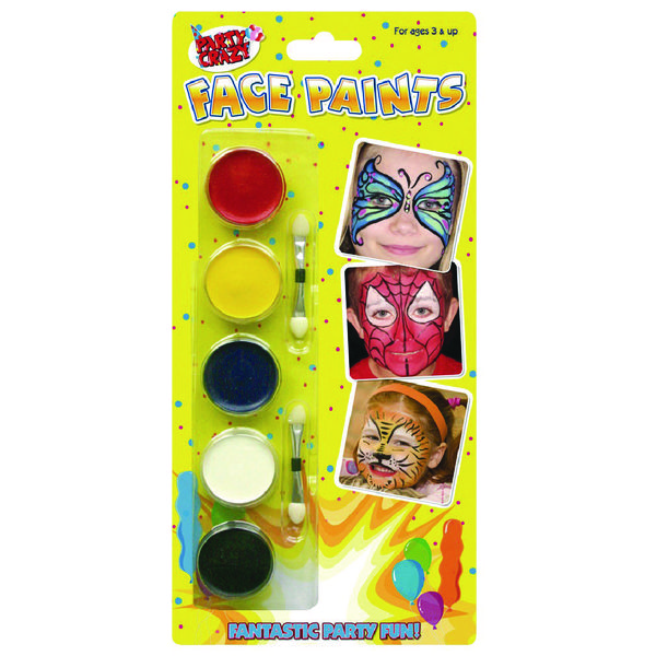 Tallom 5 Colour Face Paints (Pack of 12) 5111