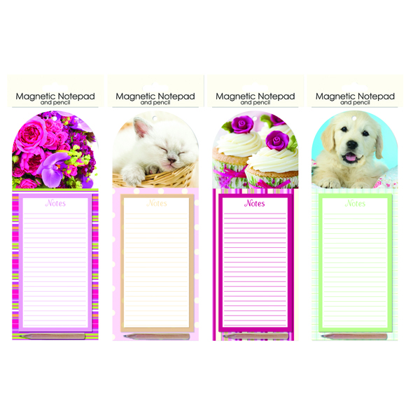 Just Stationery Magnetic Notepad and Pencil (Pack of 12) 5505