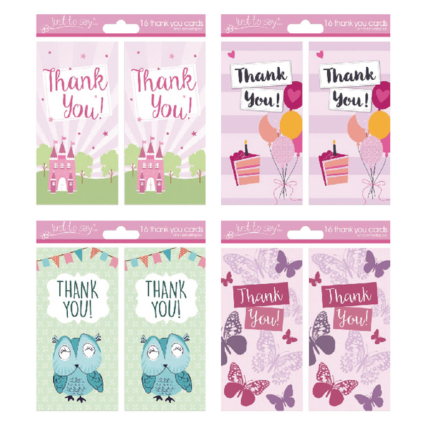 Tallon 4 Design Girl Thank You Cards (Pack of 192) 4485