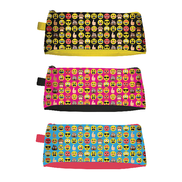 Tallon Funny Faces Pencil Case (Pack of 12) 6806/48