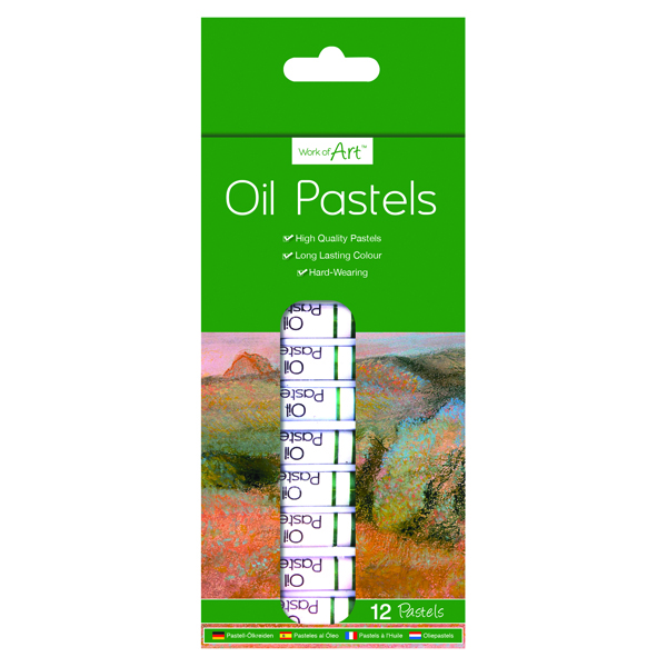 Work of Art High-Quality Oil Pastels (Pack of 12) TAL06364