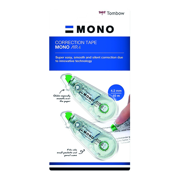 Tombow MONO air4 Correction Tape 4.2mm x 10m (Pack of 3) CT-CA4-3P