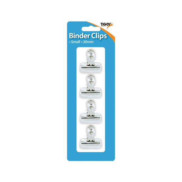 48 x Tiger Small Letter Clips 30mm (Easy to open mechanism with open hole at the handle) 302006