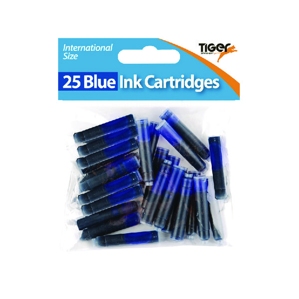 300 x Tiger Blue Ink Cartridges (These blue ink cartridges are international size) 301090