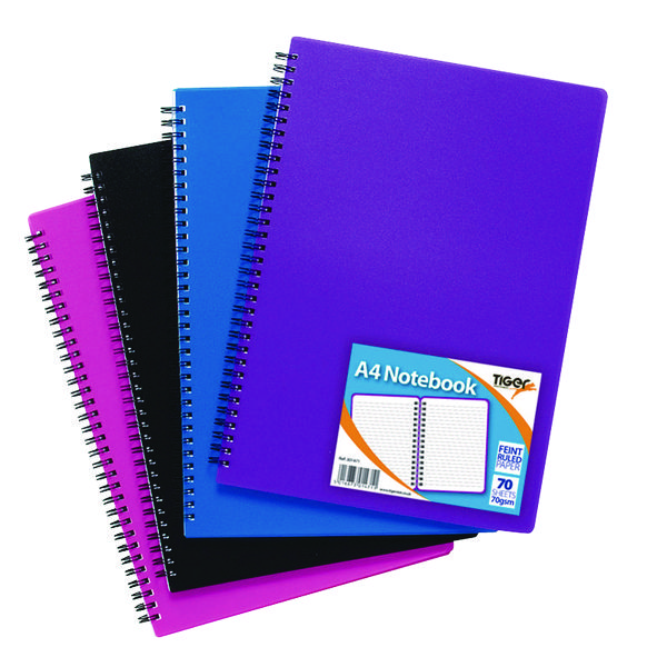 Sundry A4 Wiro Polypropylene Notebook (Pack of 5) 301471