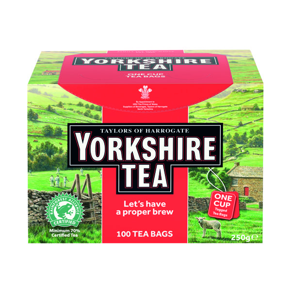 Yorkshire Tea String and Tag Tea Bags (Pack of 100) 1342