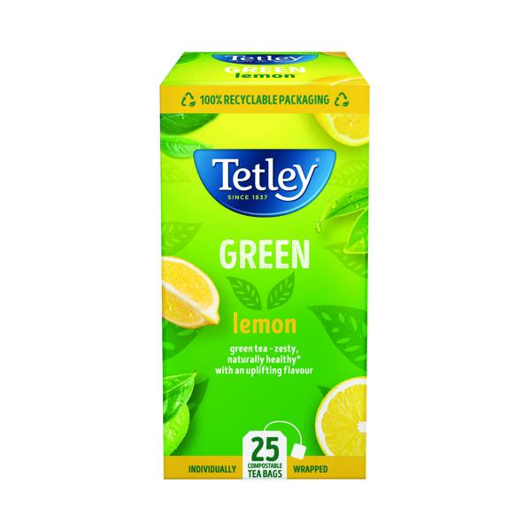 Tetley Green Tea With Lemon Tea Bags (Pack of 25) 1571A