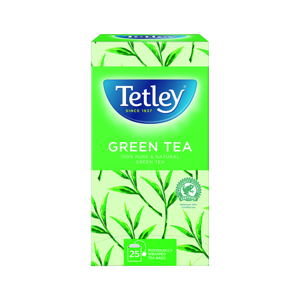 Tetley Pure Green Tea Bags (Pack of 25) 1575A