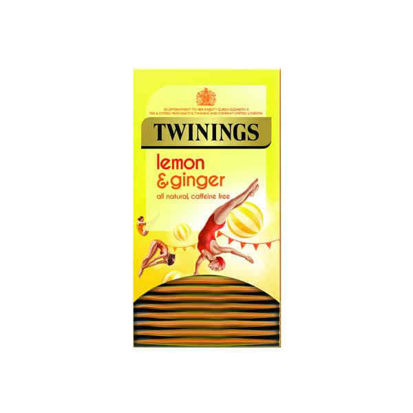 Twinings Lemon & Ginger Fruit Infusion Tea Bags (Pack of 20) F09613