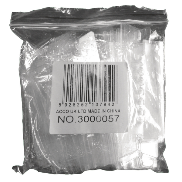 Rexel Crystalfile Flexi Index Divider Tabs Clear (Pack of 50) 3000057