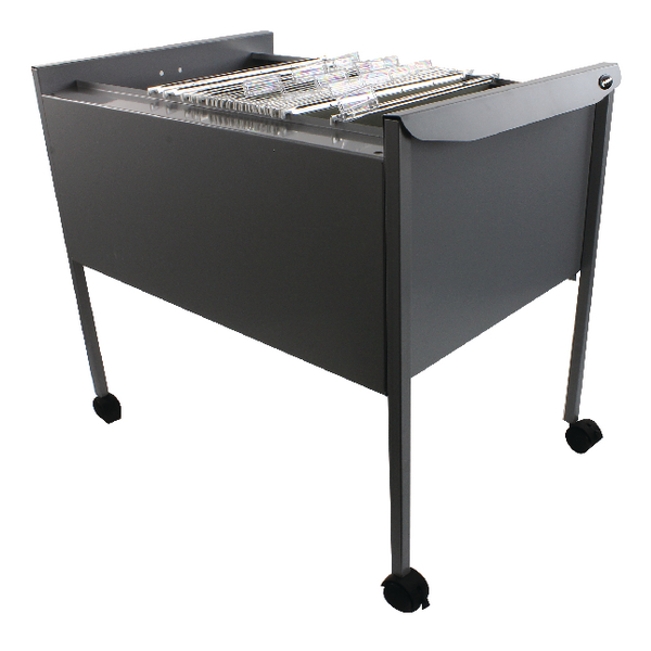 Rexel Filemate Mobile Filing Trolley Titanium Grey 50559