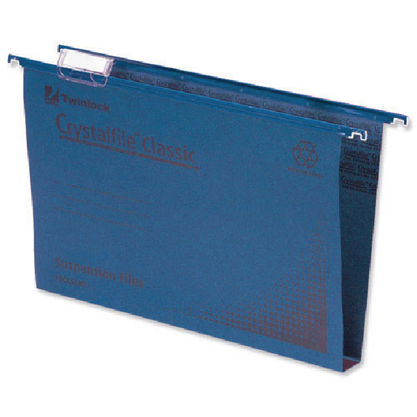 Rexel Crystalfile Classic Suspension File 30mm Blue (Pack of 50) 70625