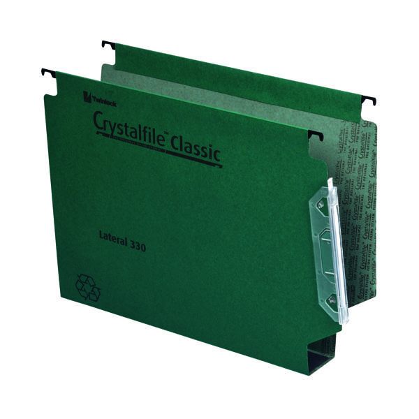 Rexel Crystalfile Classic 50mm Lateral File Green (Pack of 25) 70672