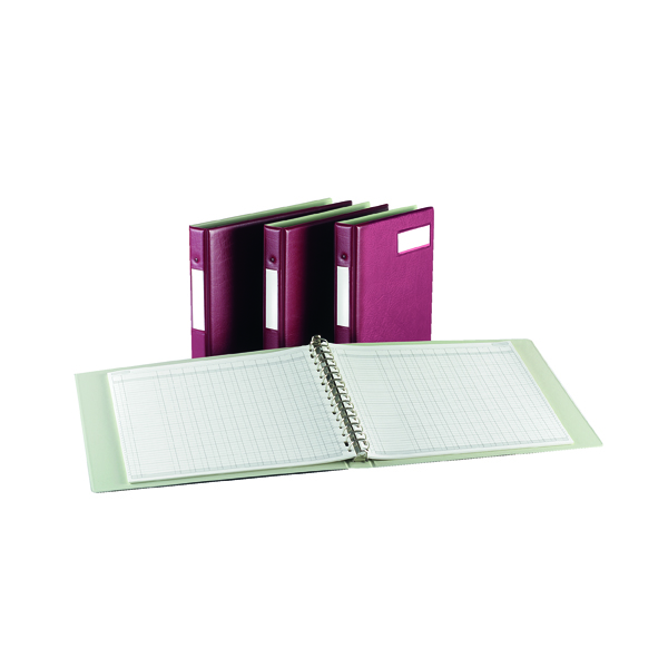 Rexel Variform V4 Multi-Ring Binder Maroon (Stores upto 150  A4 paper) 75149