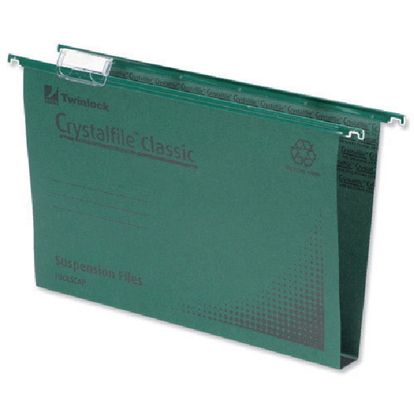Rexel Crystalfile Classic Suspension File 30mm Green(Pack of 50) 78041