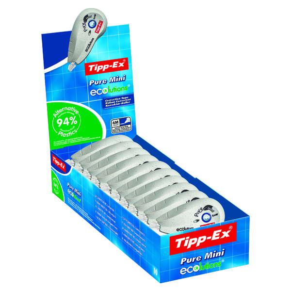 Tipp-Ex Pure Mini Ecolutions Correction Roller (Pack of 10) 918467