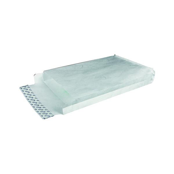 Tyvek Envelope 324x229x38mm Gusset Peel and Seal White (Pack of 100) 755024