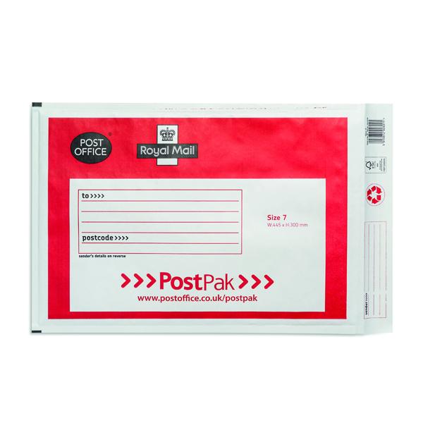 Post Office Postpak Size 7 Bubble Envelopes (Pack of 40) 41640