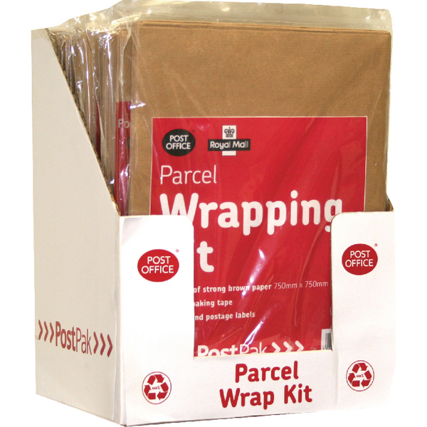Post Office Brown Post Pack Wrap Kit (Pack of 10) 39124016