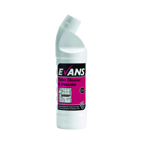 Evans Toilet Cleaner and Descaler 1 Litre (Removes limescale and soiling) A190CEV