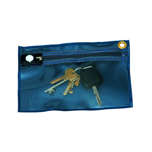 GoSecure Security Key Wallet 230x152mm Blue KW1