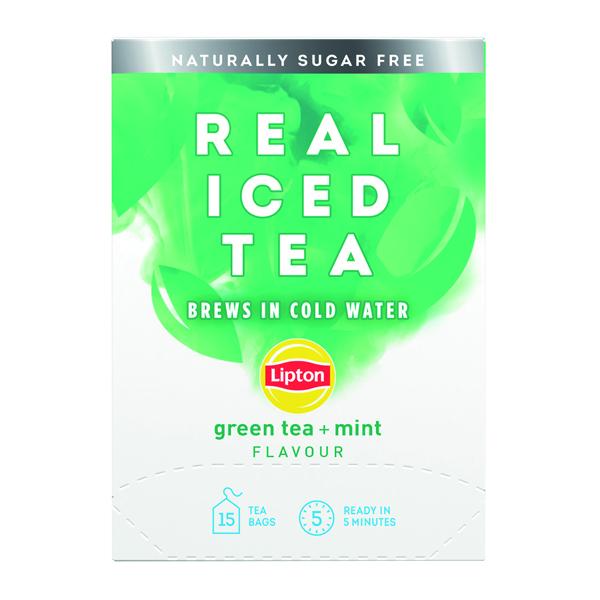 Lipton Cold Brew Green Tea Mint (Pack of 15) 67737998