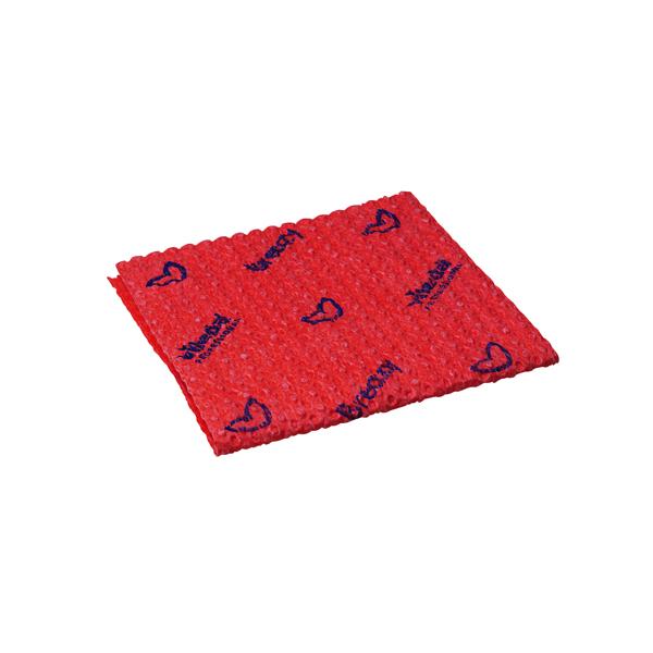 Vileda Breazy Microfibre Cloth Wave Red (Pack of 25) 0707221