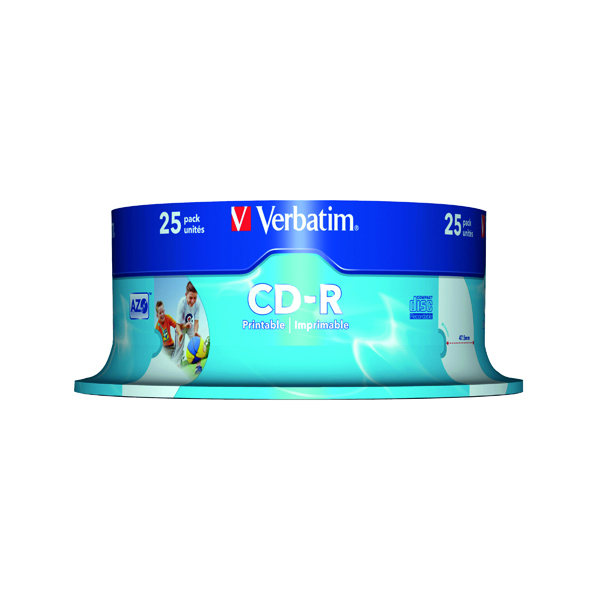 Verbatim CD-R Crystal 700MB Slim Case (Pack of 25) 43322
