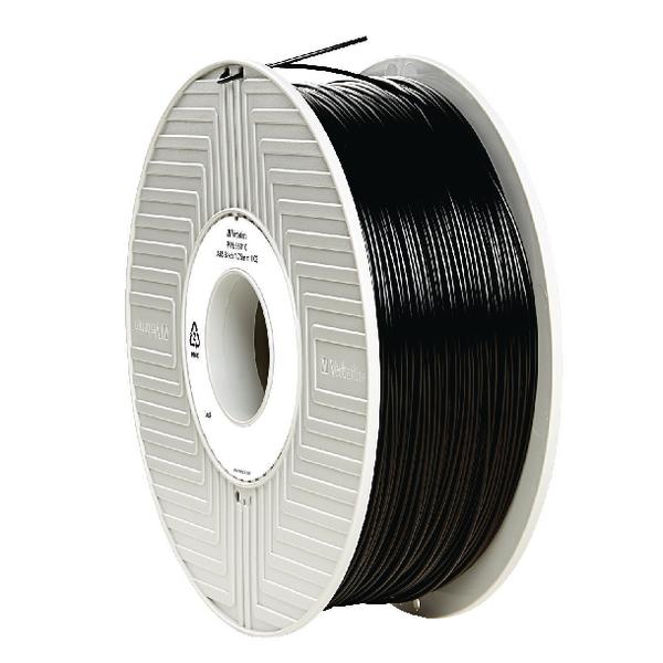 Verbatim ABS Black 3D Printing Filament Reel 1.75mm 1kg 55010