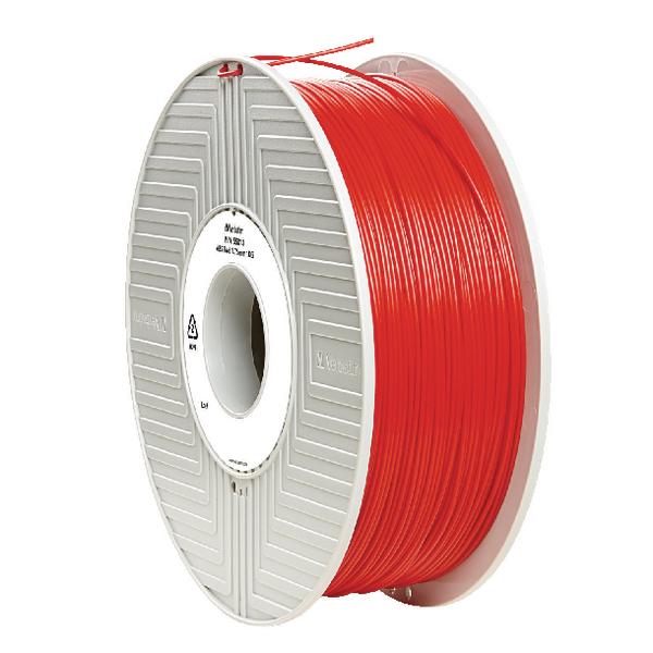 Verbatim ABS Red 3D Printing Filament Reel 1.75mm 1kg 55013