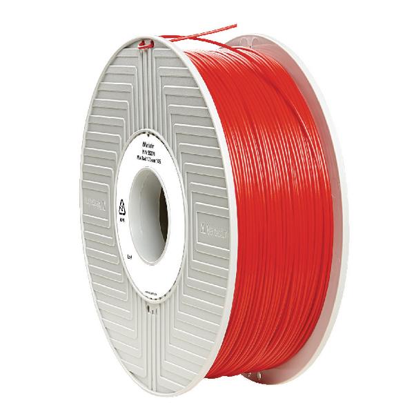 Verbatim PLA 3D Red Printing Filament Reel 1.75mm 1kg 55270