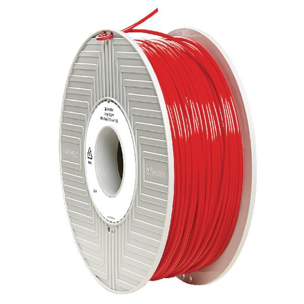 Verbatim PLA 3D Red Printing Filament Reel 2.85mm 1kg 55279
