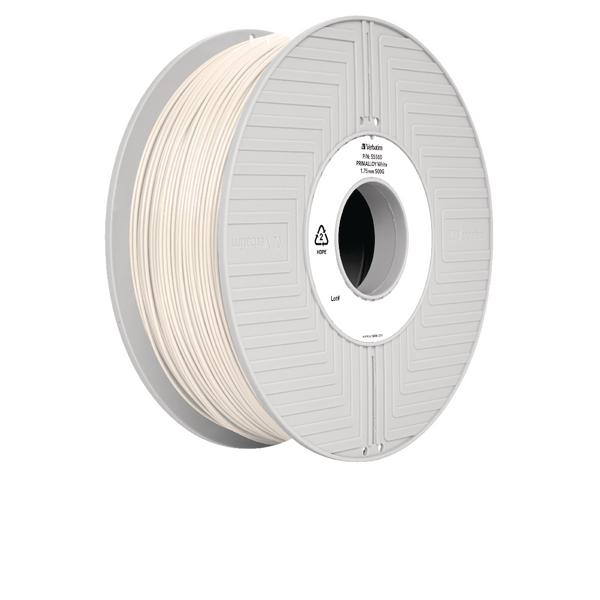 Verbatim Primalloy White 3D Printing Filament Reel 1.75mm 500g 55500