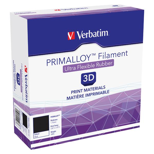 Verbatim Primalloy Black 3D Printing Filament 1.75mm 500g 55506