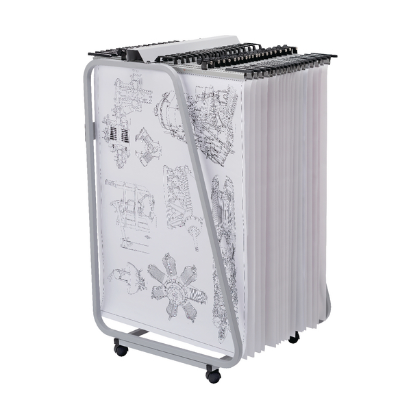 Vistaplan Front Loading Trolley Carrier FLT. Hangers not included.