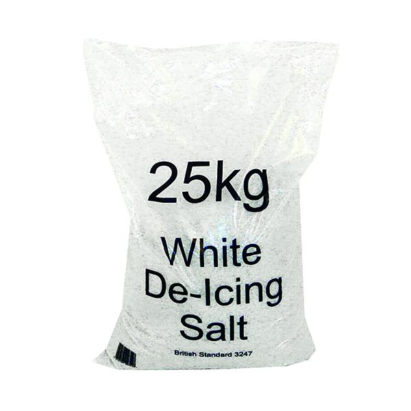 White Winter 25kg Bag De-Icing Salt (Pack of 10) 383499