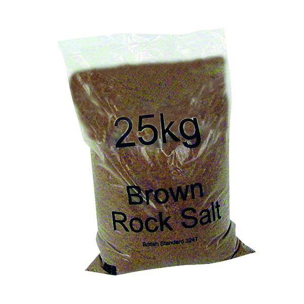 Winter Dry Brown Rock Salt 25kg (Pack of 40) 383578