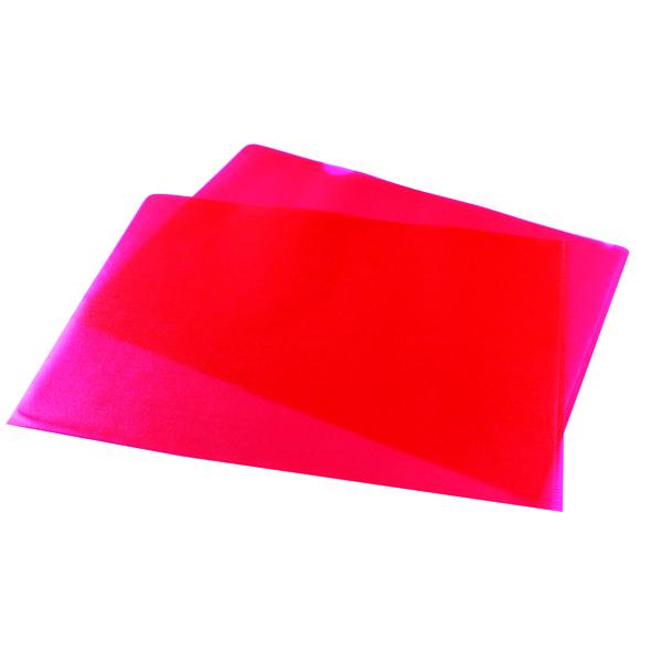 Red Cut Flush Folders (Pack of 100) WX01485