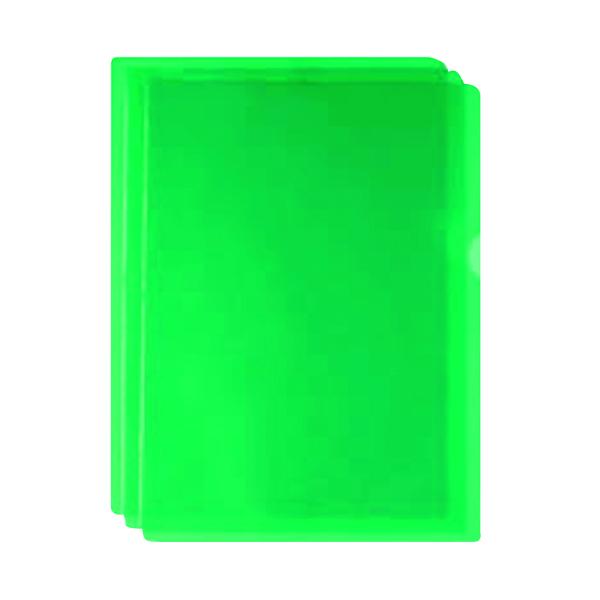 Green Cut Flush Folders (Pack of 100) WX01488